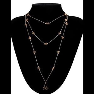 COMING SOON! Triple Layer Stars Statement Necklace